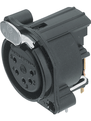 Neutrik - NC5FBH-B - XLR Panel-mount female receptacle 5 N/A B Horizontal / PCB Mounting black, NC5FBH-B, Neutrik