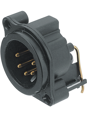 Neutrik - NC5MBH-B - XLR Panel-mount male receptacle 5 N/A B Horizontal / PCB Mounting black, NC5MBH-B, Neutrik
