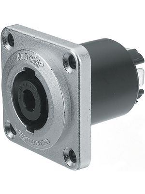 Neutrik - NLT4MP - Flush-mounted connector, Speakon STX silver 4P, NLT4MP, Neutrik