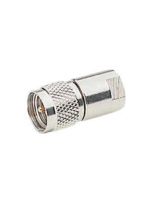 Amphenol - FMEM-MUM-ND3G-50 - FME male/Mini-UHF male adapter, FMEM-MUM-ND3G-50, Amphenol