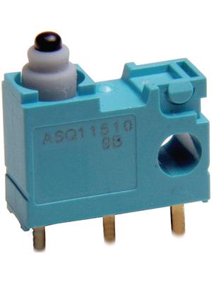 Panasonic - ASQ15410 - Micro switch 0.10 ADC Plunger N/A 1 change-over (CO), ASQ15410, Panasonic