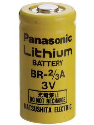 Panasonic Automotive & Industrial Systems - BR 2/3A - Lithium battery 3 V 1200 mAh, 2/3A, BR 2/3A, Panasonic Automotive & Industrial Systems