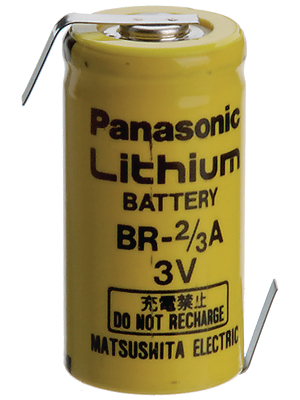 Panasonic Automotive & Industrial Systems - BR 2/3A 1Z - Lithium battery 3 V 1200 mAh, 2/3A, BR 2/3A 1Z, Panasonic Automotive & Industrial Systems
