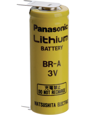 Panasonic - BR A E2SP - Lithium battery 3 V 1800 mAh, A, BR A E2SP, Panasonic