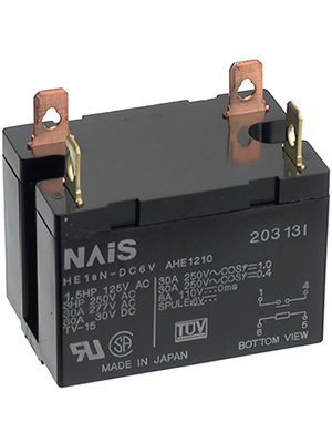 Panasonic - HE1AN-DC24V - Industrial relay 24 VDC 300 Ohm 1.92 W, HE1AN-DC24V, Panasonic