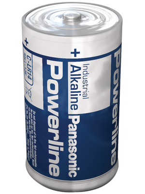 Panasonic - LR14AD/B POWERLINE - Primary battery 1.5 V LR14/C Pack of 80 pieces, LR14AD/B POWERLINE, Panasonic