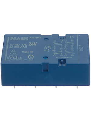 Panasonic - SF4D-DC18V - PCB protection relay 18 VDC 500 mW, SF4D-DC18V, Panasonic
