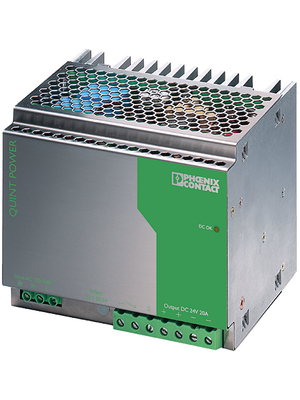 Phoenix Contact - QUINT-PS-100-240AC/24DC/20 - Switched-mode power supply / 20 A, QUINT-PS-100-240AC/24DC/20, Phoenix Contact