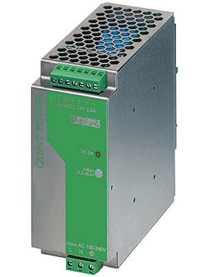 Phoenix Contact - QUINT-PS-100-240AC/24DC/5 - Switched-mode power supply / 5 A, QUINT-PS-100-240AC/24DC/5, Phoenix Contact