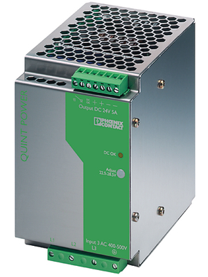 Phoenix Contact - QUINT-PS-3X400-500AC/24DC/5 - Switched-mode power supply / 5 A, QUINT-PS-3X400-500AC/24DC/5, Phoenix Contact