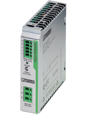 Phoenix Contact - TRIO-PS/1AC/24DC/2.5 - Switched-mode power supply / 2.5 A, TRIO-PS/1AC/24DC/2.5, Phoenix Contact