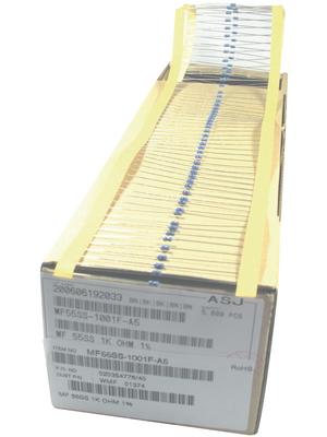 YAGEO - MF0207FTE52-1K10 - Resistor 1.1 kOhm 0.4 W  ±  1 % PU=Pack of 5000 pieces, MF0207FTE52-1K10, YAGEO