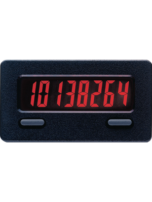 Red Lion - CUB7CCR0 - Summation counter 8-digit LCD 50 Hz / 10 kHz High-speed: 10 kHz, 4.0 - 28 VDC, bipolar input, low-speed: 50 Hz pulses via potential-free contact or open collector Lithium battery, CUB7CCR0, Red Lion