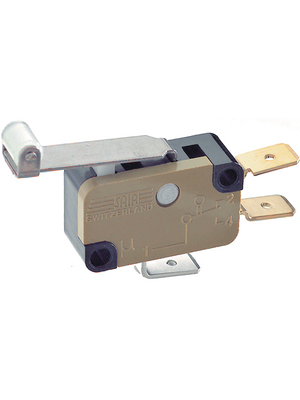Saia - XGK3-88-S21Z1 - Micro switch 12 AAC Roller lever, long N/A 1 change-over (CO), XGK3-88-S21Z1, Saia