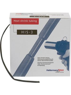 HellermannTyton - HIS-3-24/8-BK - Heat-shrink tubing spool box black 24 mmx8 mmx3 m - 308-32400, HIS-3-24/8-BK, HellermannTyton