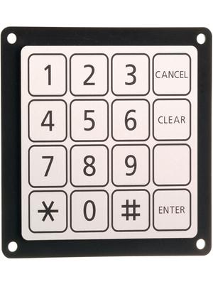 Schurter - 1068.1016.1110001 - Piezo keypad 16, 1068.1016.1110001, Schurter
