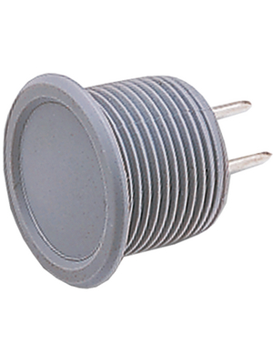 Schurter - 1241.2352 - Piezo switch Natural aluminum 16.2 mm 42 VAC / 60 VDC 0.1 A 1 make contact (NO), 1241.2352, Schurter