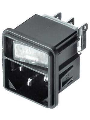 Schurter - 4302.0104 - Plug C14 Faston 4.8 x 0.8 mm 10 A/250 VAC black Snap-in L + N + PE, 4302.0104, Schurter