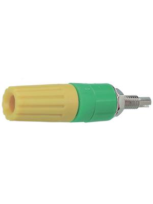 Staeubli Electrical Connectors - PK4-T YELLOW - Binding post ? 4 mm yellow, PK4-T YELLOW, St?ubli Electrical Connectors
