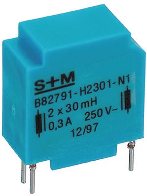 EPCOS - B82791-H2501-N1 - Inductor, radial 10 mH  (2x) 0.5 A  (2x), B82791-H2501-N1, EPCOS