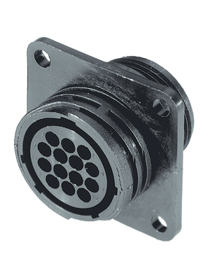 TE Connectivity - 182641-1 - Female receptacle series CPC 14-pin CPC1 Poles=14, accepts female contacts / Square Flange, 182641-1, TE Connectivity