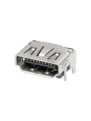 TE Connectivity - 1747981-1 - HDMI connector SMD without flange 19 N/A, 1747981-1, TE Connectivity