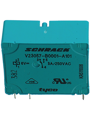 TE Connectivity - 7-1393215-5 - PCB power relay 24 VDC 500 mW, 7-1393215-5, TE Connectivity