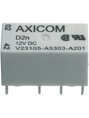 TE Connectivity - 1-1393793-3 - Signal relay 12 VDC 280 Ohm 515 mW THD, 1-1393793-3, TE Connectivity