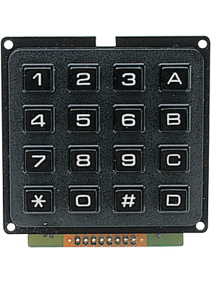 Accord - AK-1604 164-1-2 - 16 Button Keypad, AK-1604 164-1-2, Accord