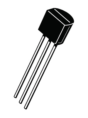 Analog Devices - AD592ANZ - Temperature sensor TO-92, AD592ANZ, Analog Devices