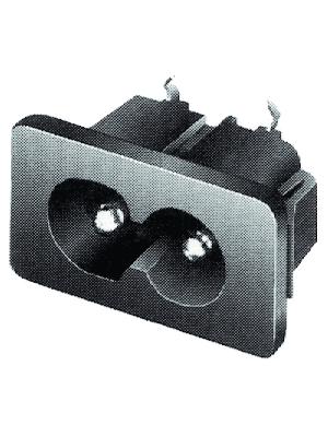 Schurter - 4300.0098 - Flush-type device plug C8 Snap-in, 4300.0098, Schurter