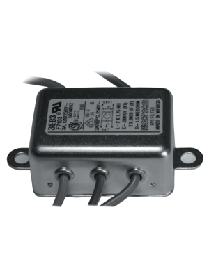 TE Connectivity - 6609020-1 - Mains filter Phases 1 1 A 250 VAC, 6609020-1, TE Connectivity