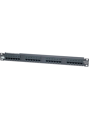 "TE Connectivity - 406330-1 - Patch panel 19"" black 1 U(HE), 1 HE, 84 TE, 406330-1, TE Connectivity"