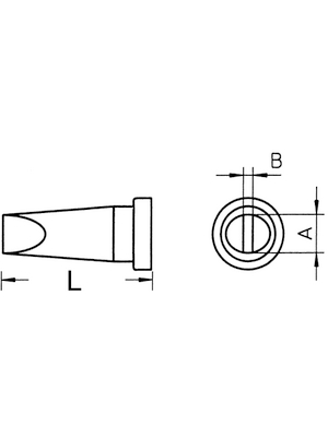 Weller - LT A - Soldering tip Chisel shaped 1.6 mm, LT A, Weller