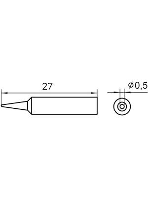 Weller - XNT 1 - Soldering tip Round shape 0.5 mm, XNT 1, Weller