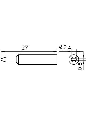 Weller - XNT B - Soldering tip Chisel shaped 2.4 mm, XNT B, Weller