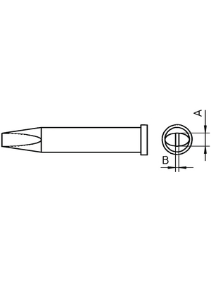 Weller - XT C - Soldering tip Chisel shaped 3.2 mm, XT C, Weller