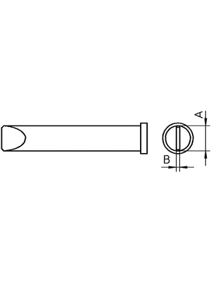 Weller - XT E - Soldering tip Chisel shaped 5.9 mm, XT E, Weller