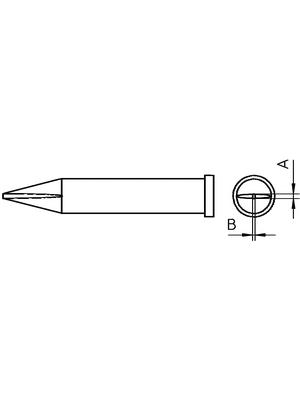 Weller - XT H - Soldering tip Chisel shaped 0.8 mm, XT H, Weller