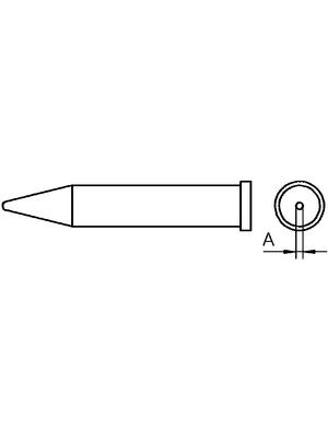 Weller - XT O - Soldering tip Round shape, XT O, Weller
