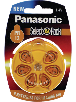 Panasonic - PR230/6DC - Hearing-aid battery 1.4 V 75 mAh PU=Pack of 6 pieces, PR230/6DC, Panasonic