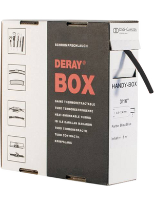 DSG-Canusa - DERAY-HANDY-BOX 3/8 BLACK - Heat-shrink tubing spool box black 9.5 mmx4.8 mmx5 m, DERAY-HANDY-BOX 3/8 BLACK, DSG-Canusa