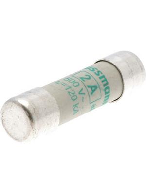 Eaton - C10M2 - Fuse10 x 38 mm,500 VAC,2 A 2 A Slow-blow Bussmann, C10M2, Eaton