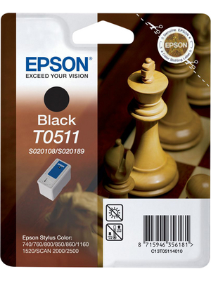 Epson - C13T05114010 - Ink T0511 black, C13T05114010, Epson
