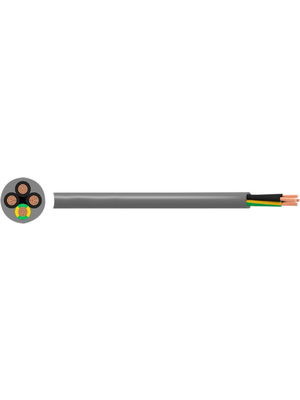 RND Cable - RND 475-00268 - Control cable 5 x 0.50 mm2 unshielded Copper grey, RND 475-00268, RND Cable