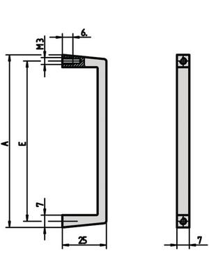 Pentair Schroff - 10501-001 - Front handle, 10501-001, Pentair Schroff