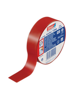 Tesa - 53948 15MM X 10 M RED - Electrical insulation tape red 15 mmx10 m, 53948 15MM X 10 M RED, Tesa