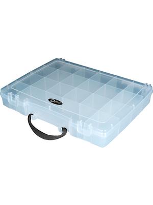 RND Lab - RND 550-00119 - Assortment Box, 21, transparent 325 x 255 x 56 mm, Polypropylene, RND 550-00119, RND Lab
