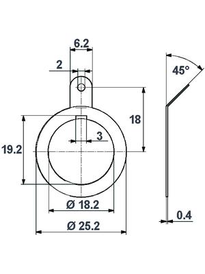 Huber+Suhner - 72_Z-0-0-13/--5_-H - Solder tag N, 72_Z-0-0-13/--5_-H, Huber+Suhner