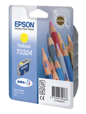 Epson - C13T03244010 - Ink T0324 yellow, C13T03244010, Epson